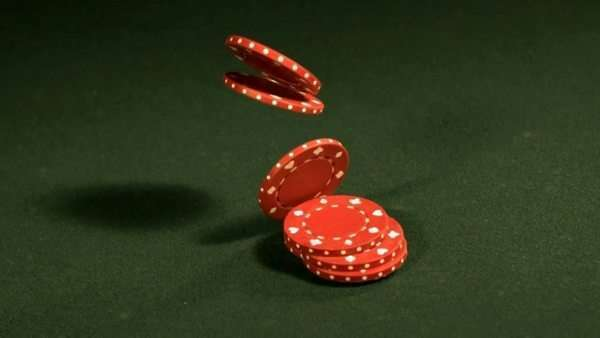 Stack of poker chips, slow motion Royalty-free stock video