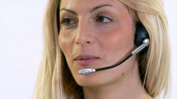 Call centre staff here to help Royalty-free stock video