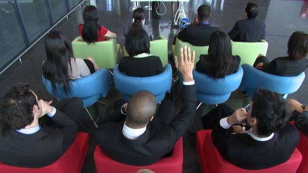 Multiple employees at a seminar Royalty-free stock video
