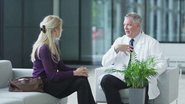 Doctor talking with patient Royalty-free stock video