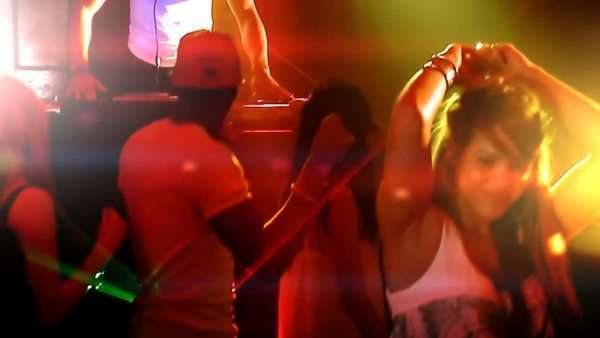 Young people in the club, partying and enjoying the nightlife Royalty-free stock video