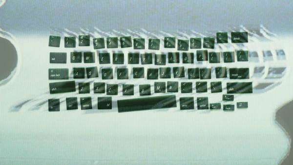 stop-motion, stop-motion  making a keyboard our of loose computer keyboard letters Royalty-free stock video