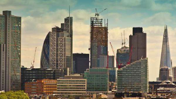 Highlighted colour timelapse of London skyline Royalty-free stock video