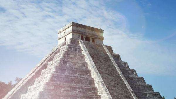 Timelapse of the Mayan ruins at Chichen Itza, Mexico. Royalty-free stock video