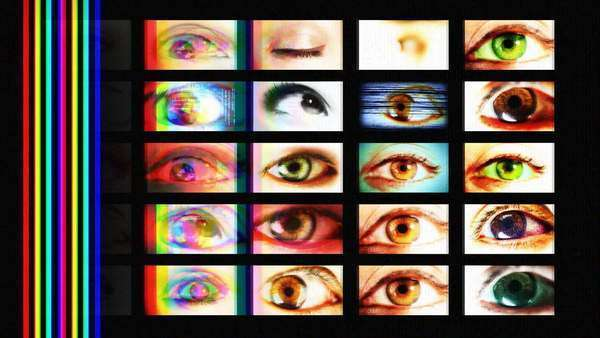 digital animation of hd screens showing different big brother eyes watching, all content self created Royalty-free stock video
