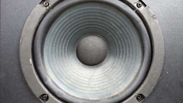 a speaker cone pumping to the sound of the bass Royalty-free stock video