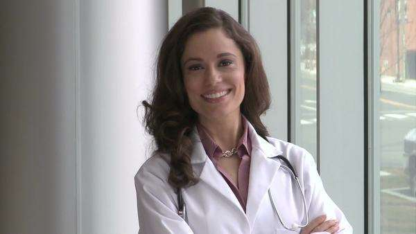 Female Doctor - Mid 30's Smiling Royalty-free stock video