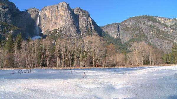 Yosemite valley and national park in snow. Royalty-free stock video