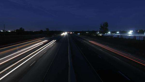 Cars at dusk on highway Royalty-free stock video