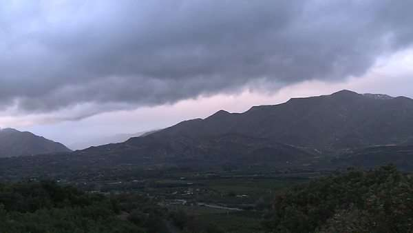 Timelapse of a snowstorm clearing over the Ojai Valley, California. Royalty-free stock video