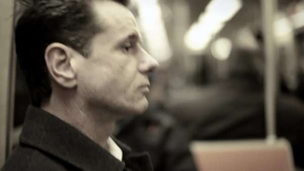 Man on subway train Royalty-free stock video