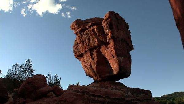 A balancing stone in Canyonlands or Arches National Parks, Utah. Royalty-free stock video