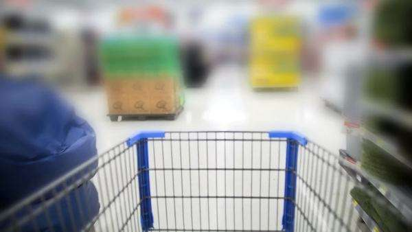 Timelapse of Shopping Cart in store Royalty-free stock video