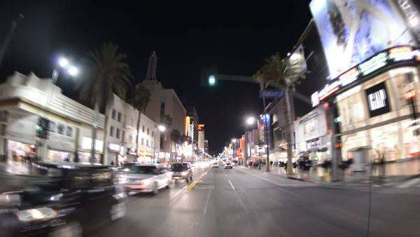 Famous Hollywood California at night Royalty-free stock video