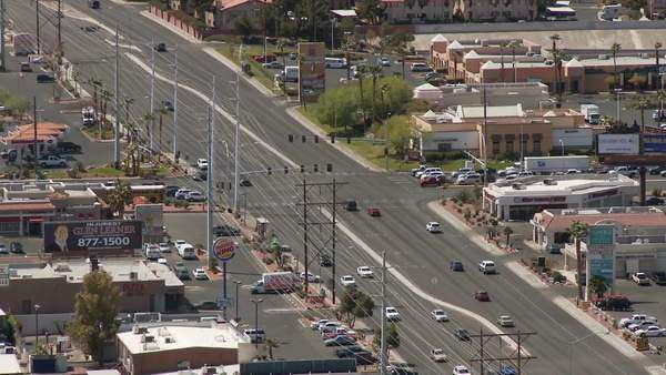 Shots of Vegas traffic from above Royalty-free stock video