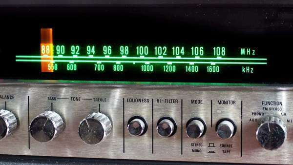 Retro radio tuner Royalty-free stock video
