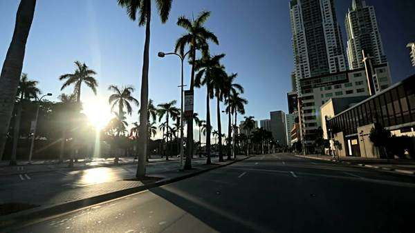 Point of view driving Biscayne Blvd, Miami, Florida, USA Royalty-free stock video