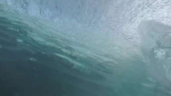 Zoom in of wave cresting and falling. Royalty-free stock video