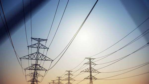 Electricity pylons and lines Royalty-free stock video