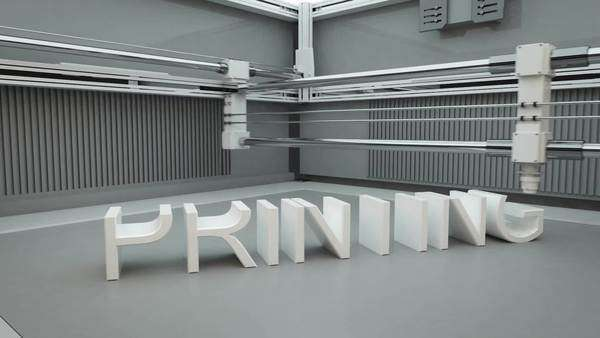 3D animation of working 3D printer (additive manufacturing) Royalty-free stock video