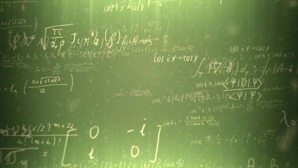 Animation presents handwritten mathematical formulas on green background Royalty-free stock video
