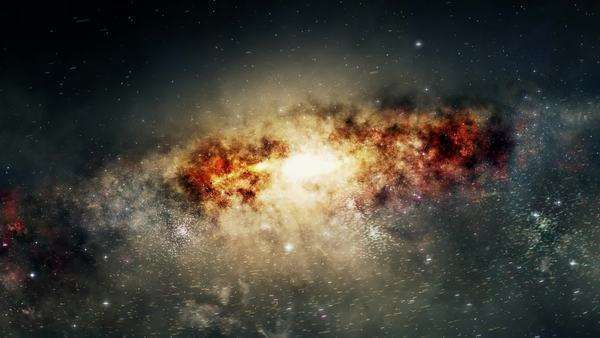 Spectacular view of a glowing galaxy, consisting of planets, star systems, star clusters and types of interstellar clouds Royalty-free stock video