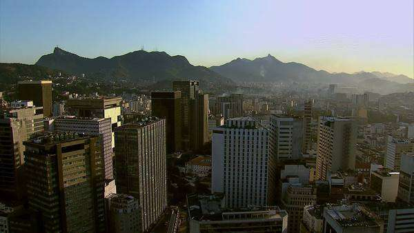 Aerial view of city, Rio de Janeiro, Brazil Royalty-free stock video