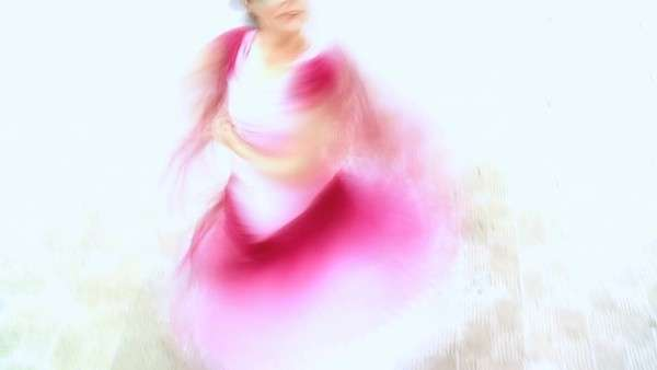 Passionate spanish flamenco dancer in blurred image. Royalty-free stock video