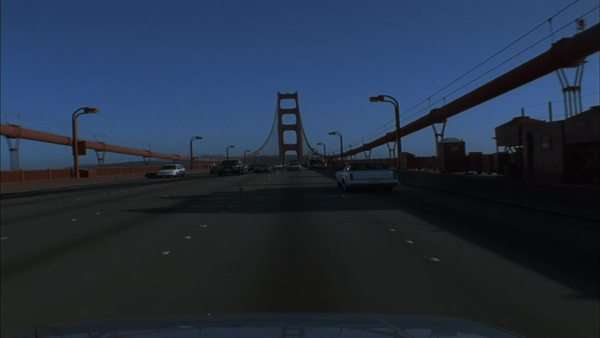 Traffic moves along the Golden Gate Bridge in California. Royalty-free stock video