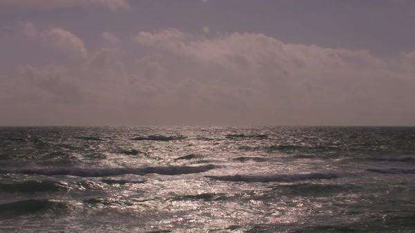 Choppy waves break and roll toward shore. Royalty-free stock video