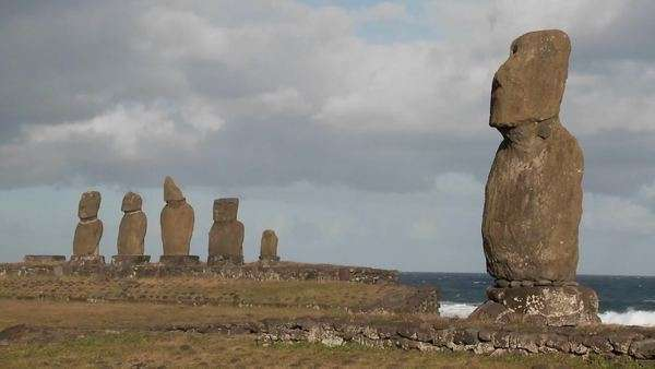 The mystical statues of Easter Island. Royalty-free stock video