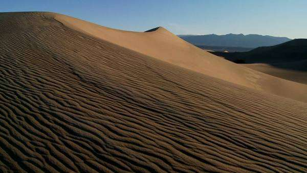 Desert dunes in Death Valley National Park. Royalty-free stock video