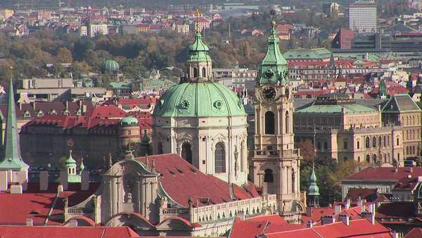 A view over Prague, Czech Republic. Royalty-free stock video