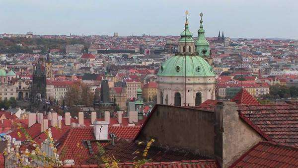 A view of Prague in the Czech Republic. Royalty-free stock video