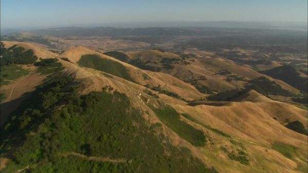 Helicopter aerial of the hills north of the Santa Maria Valley California. Royalty-free stock video