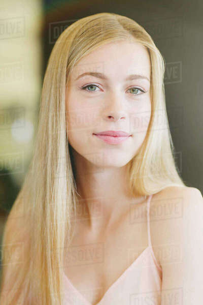 Portrait Confident Beautiful Blonde Teenage Girl In Tall -3368