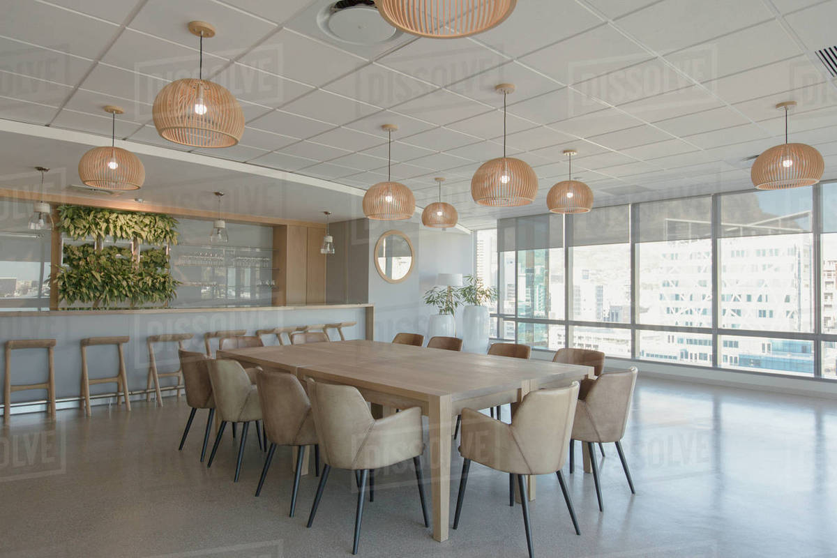 Conference Table And Pendant Lights In Modern Room D1007 14 072