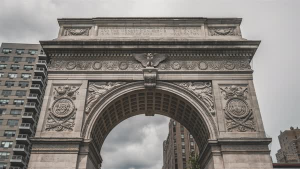 Washington square, New York City | 4K Hyperlapse sequence filmed in Washington Square, New York City. Royalty-free stock video