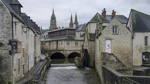 Timelapse of Bayeux, France - Downtown Royalty-free stock video