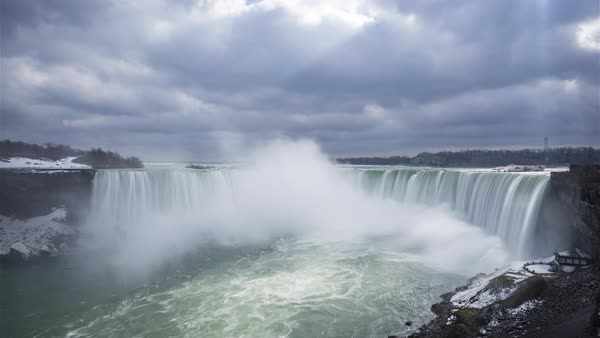 Timelapse of Niagara, Canada - Niagara Falls Royalty-free stock video