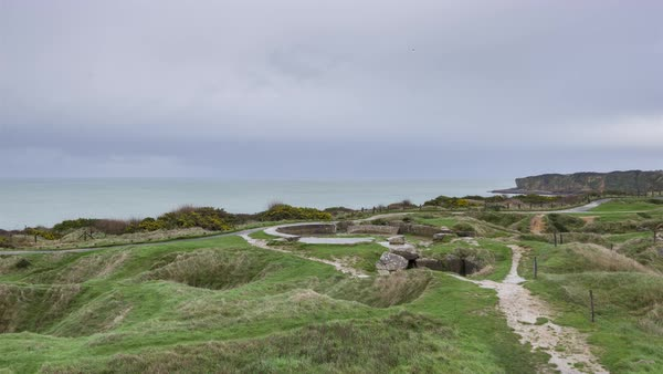 Timelapse of Grandcamp-Maisy, France - The Pointe du Hoc Royalty-free stock video