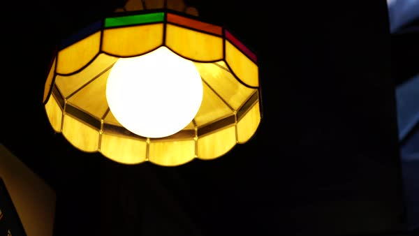 Camera tilt of a pendant light Royalty-free stock video