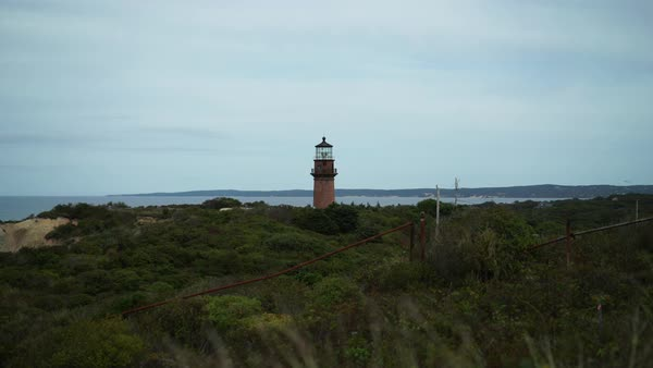 Hand-held shot of a lighthouse during daytime Royalty-free stock video