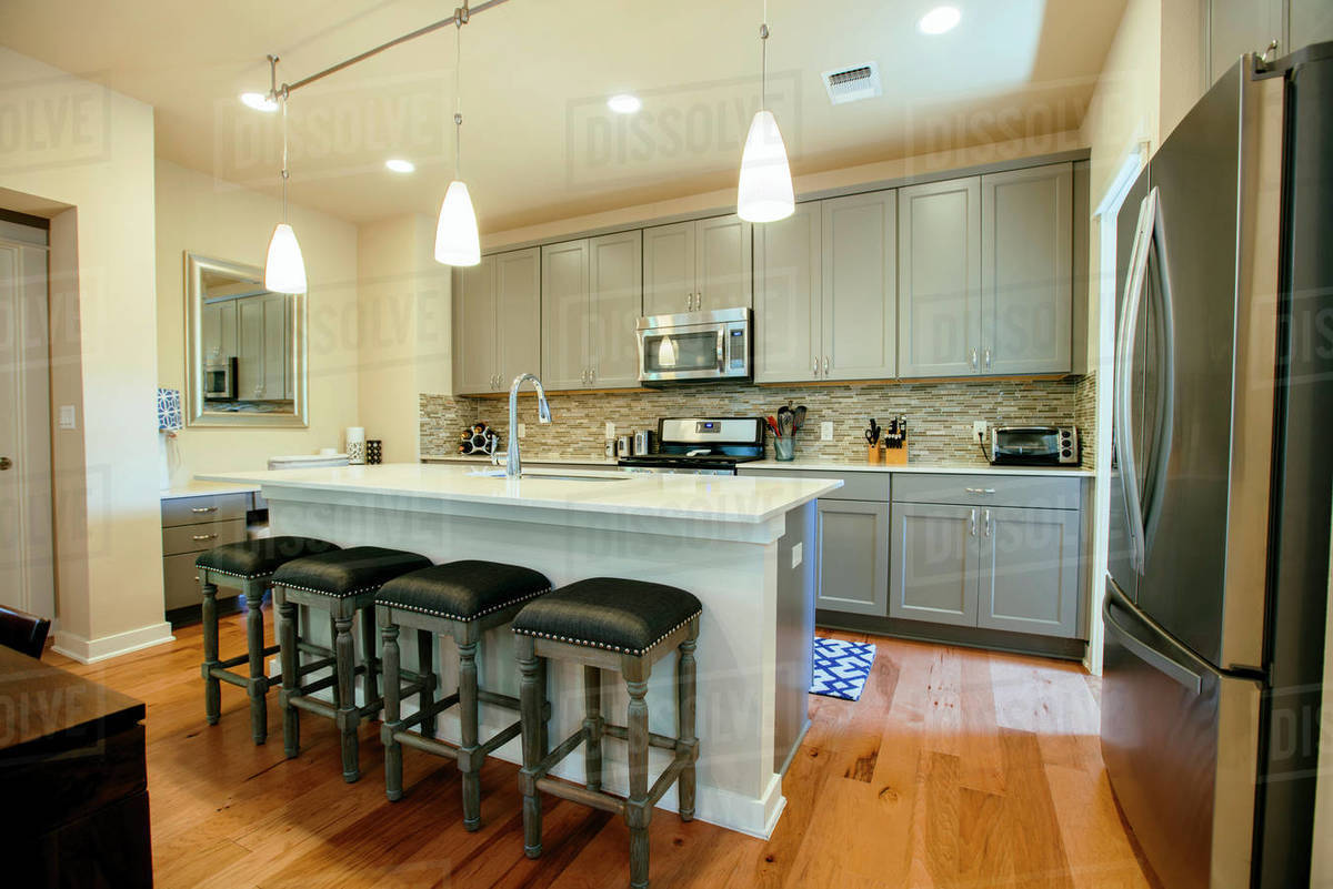Excellent Modern Home Kitchen With Green Grey Fitted Units A Kitchen D1024 105 442 Machost Co Dining Chair Design Ideas Machostcouk