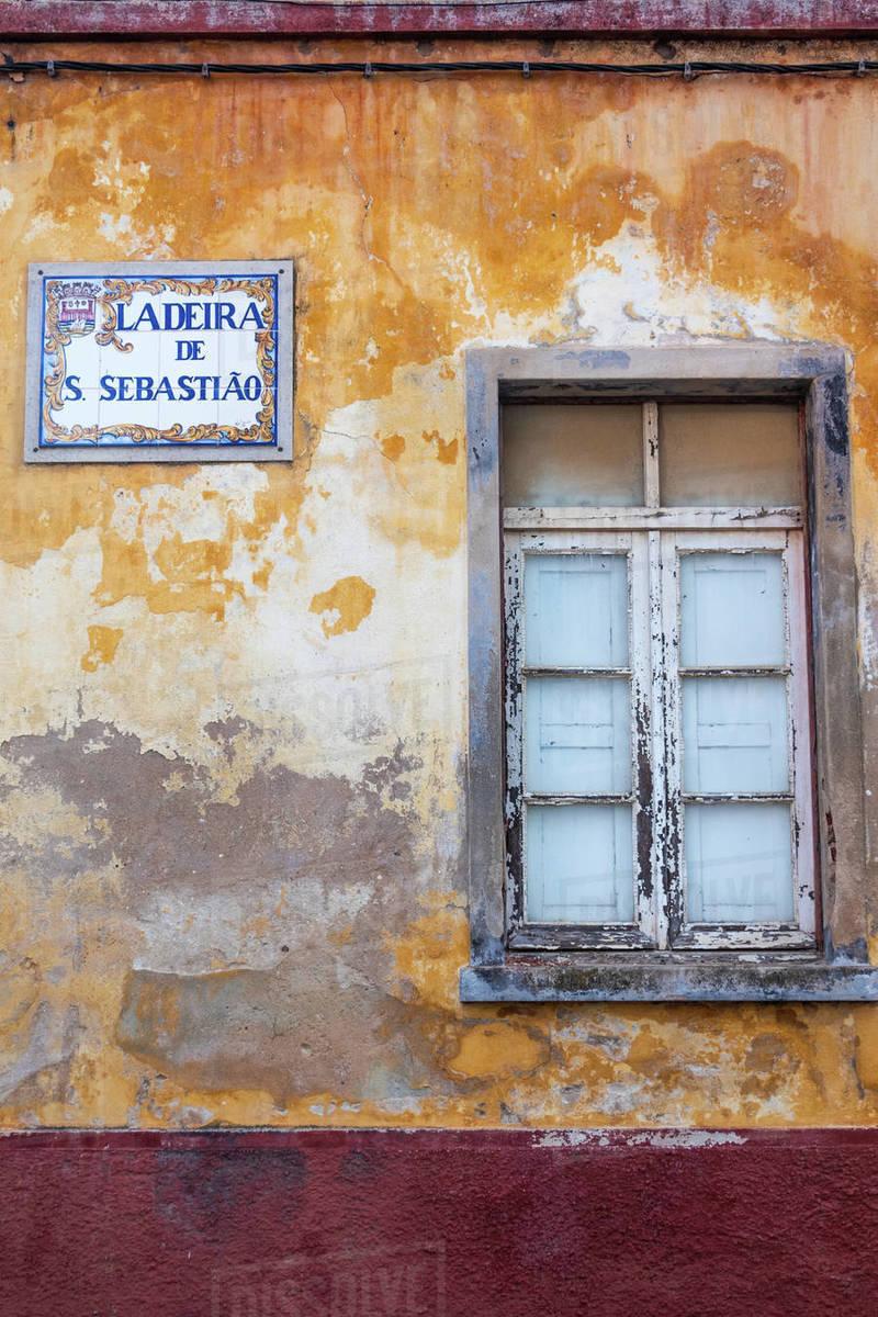 Back street in Tavira, Algarve, Portugal Royalty-free stock photo