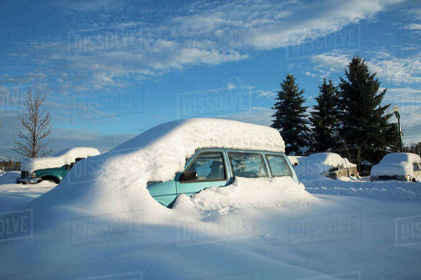 View of snowcapped car Royalty-free stock photo