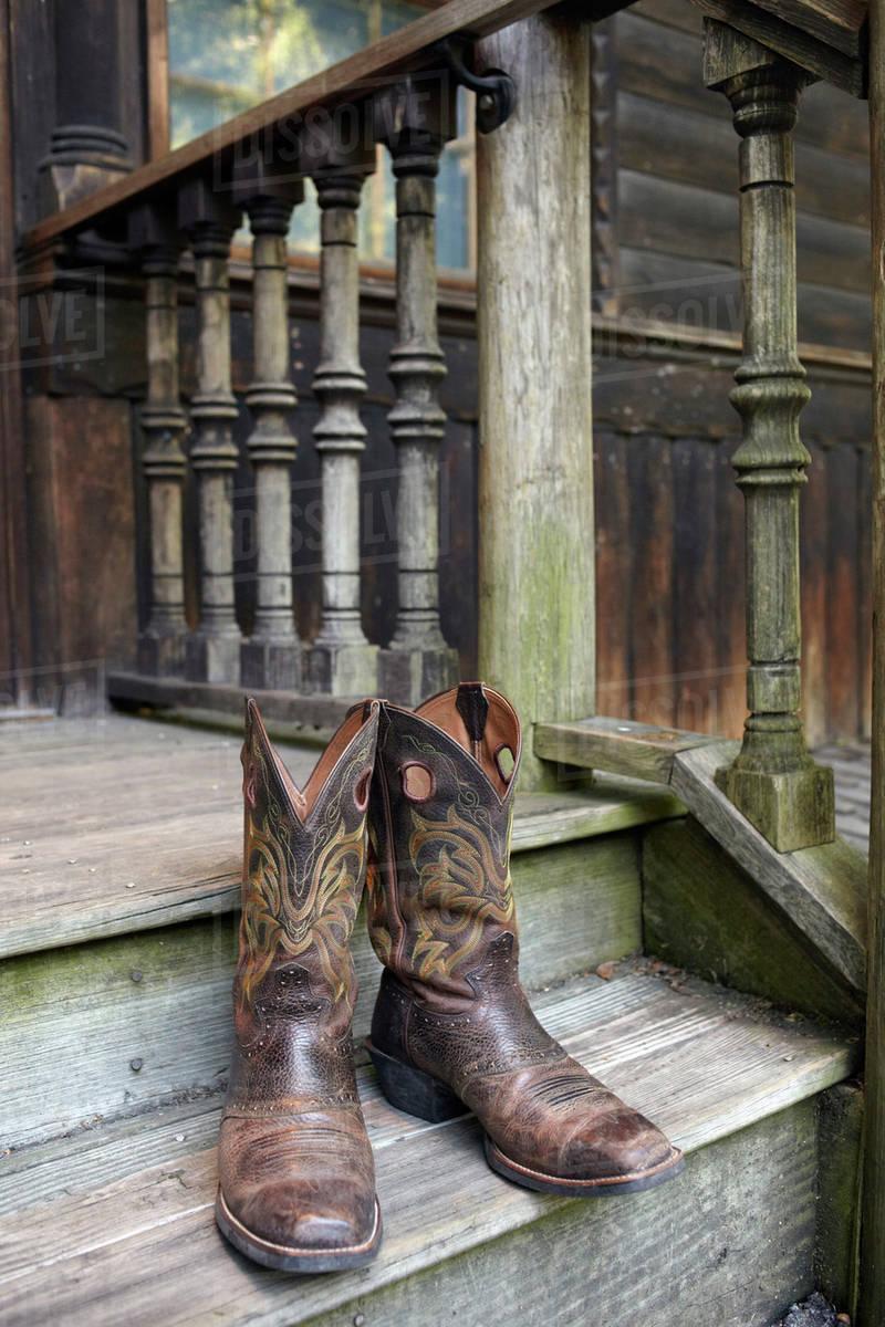 2e52f5269e4 Pair of cowboy boots stock photo