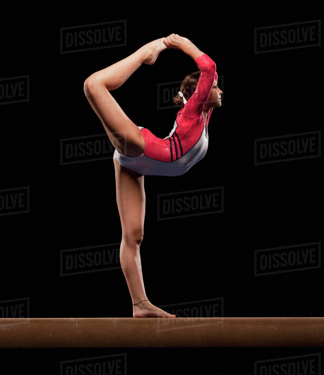 Gymnast On Balance Beam Stock Photo Dissolve