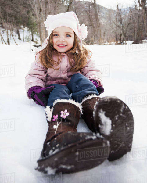 Portrait of Girl (2-3) toothy smiling to camera Royalty-free stock photo