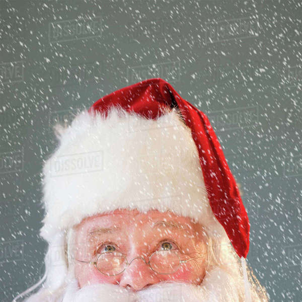 Portrait of Santa Claus looking up Royalty-free stock photo